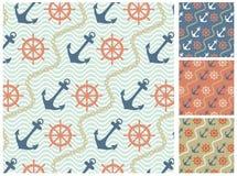 Sea  pattern set Stock Photo