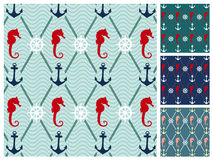 Sea  pattern set Stock Image