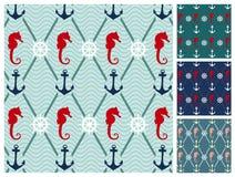 Sea  pattern set Stock Image