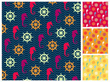 Sea  pattern set Royalty Free Stock Photo