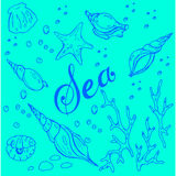 Sea pattern Royalty Free Stock Photo