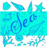 Sea pattern Stock Image