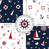 Sea patterns Royalty Free Stock Photos