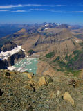 Sea of Peaks. View north form mount gould, glacier national park, montana Stock Photography