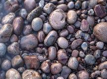 Sea pebble as background. stock image