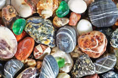 Sea pebble background Royalty Free Stock Image