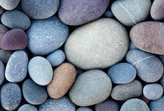 Sea pebble sea stones horizontal background Royalty Free Stock Images