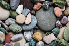 Sea pebble stones. As a natural background Royalty Free Stock Photos