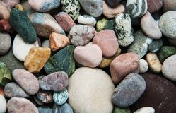 Sea pebble stones. As a natural background Stock Photo
