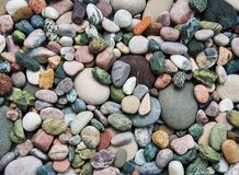 Sea pebble stones. As a natural background Stock Image