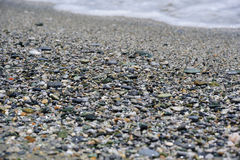 Sea pebbles ath th beach Royalty Free Stock Image
