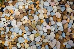 Sea Pebbles. Small Stones Gravel Texture Background. Pile Of Pebbles, Thailand. Color Stone Stock Photos