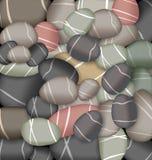 Sea pebbles texture, set stones Royalty Free Stock Images