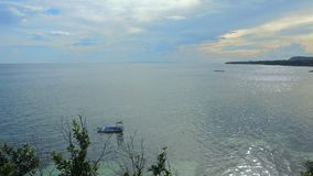 Sea in the Philippines. A nice calm sea shot in the Philippines Stock Photo