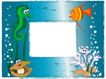 Sea photo frame Stock Photo