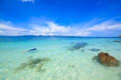 Sea phuket in thailand. Deep blue sea in island of thailand Stock Image