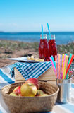 Sea picnic stock images