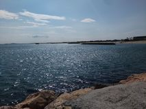 The Sea. Picture taken at Sete, in France stock photo