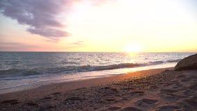 Sea piece dusk sea stock video