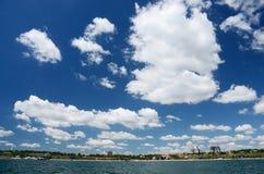 Sea-piece of Odessa city with new urban districts, Ukraine. Cityscape of Odessa with new urban districts, Ukraine royalty free stock photos