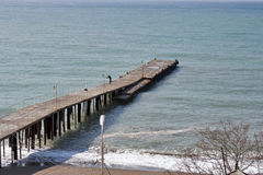 Sea pier Stock Photography