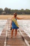 Sea pier Royalty Free Stock Photos