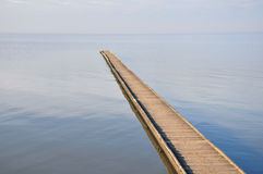 Sea pier Royalty Free Stock Images