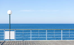 Sea pier, abstract background or banner. Royalty Free Stock Photos
