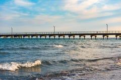 Sea pier stock photos