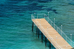 Sea and pier. Holiday and peaceful.Peaceful concept for holiday.Relaxing and be happy royalty free stock images