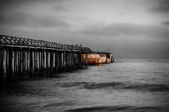 Sea, Pier, Sky, Body Of Water Royalty Free Stock Photography