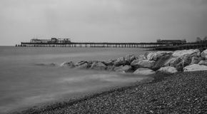 Sea pier. And stones at Hastings Royalty Free Stock Photo