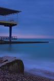 Sea pier in thr Black sea. Sochi, Russia Royalty Free Stock Photo