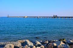 Sea and pipeline Stock Photo