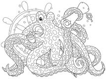 Sea pirate Octopus Stock Image