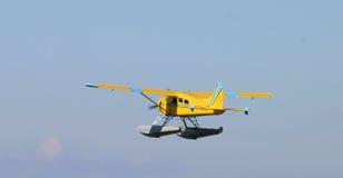 Sea plane. Flying royalty free stock photos
