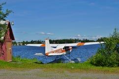 Sea plane at Lake Hood in Alaska Stock Images