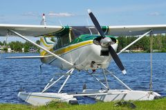 Sea plane at Lake Hood in Alaska Stock Image