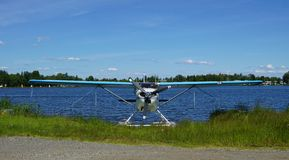 Sea plane at Lake Hood in Alaska Royalty Free Stock Photography