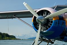 Sea Plane Prop Stock Image