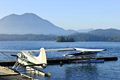 Sea planes in Tofino, Vancouver Island, Canada stock photography