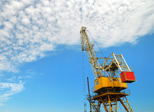 Sea platform with the crane Royalty Free Stock Photography