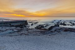 Sea Point, Western Cape, South Africa. The beautiful coastline of the Western Cape Peninsular, South Africa royalty free stock images