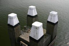 Sea poles Royalty Free Stock Photography