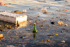 Sea pollution Royalty Free Stock Images