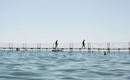 Sea pontoon Stock Photography