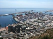Sea port. Spain, Barcelona, cargo sea port Stock Photography