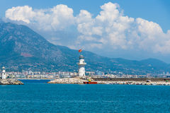 Sea port of Alanya Royalty Free Stock Photos