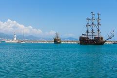 Sea port of Alanya Stock Image