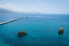 Sea port of Alanya Royalty Free Stock Photos